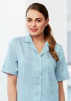 S266LS Ladies Oasis Stripe Overblouse Shirt