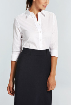 Ladies 1025WL Oxford Shirt White A