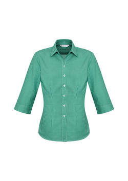 Biz S716LT Ladies Ellison Shirts Dark Green