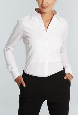 Ladies 1708WL LS Textured Plain Shirt White A
