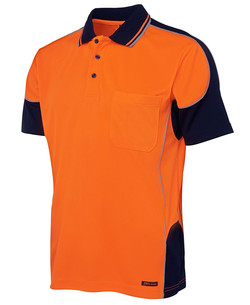 6HCP4 Hi Vis Contrast Piping Polo Front