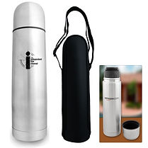 Check out our selection of promotional thermos'. Decorate with Logo, Brand or point of contact.