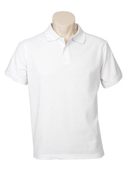 p2100 Mens Neon Polo White