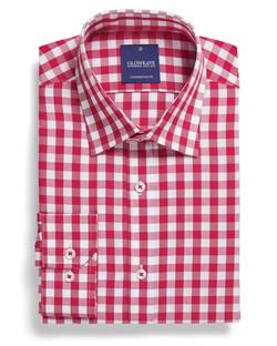 Mens 1710L LS Royal Oxford Gingham Shirt Red