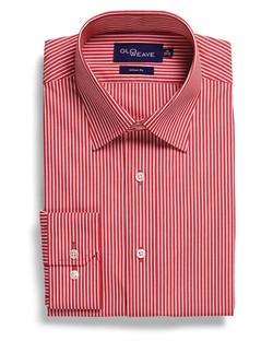 Mens 1376L LS Bold Stripe Shirt Red