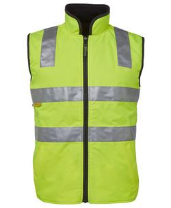 6D4RV Hi Vis (D+N) Reversible Vest Lime-Black