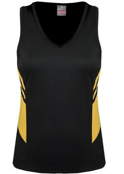 AP 2111 Ladies Tasman Singlet Black-Gold.jpg