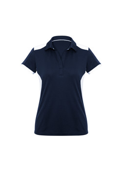 Biz P705LS Ladies Rival Polo Shirt Navy_White