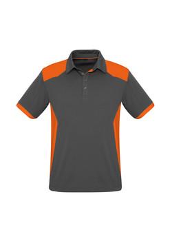 Biz P705MS Mens Rival Polo Shirt Grey_Orange