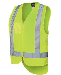 6DNDV Hi Vis Zip Drop Tail (D+N) Vest Lime