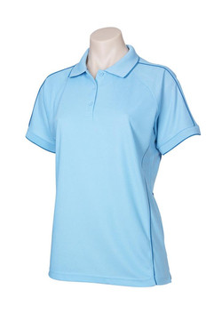 p9925 Ladies Resort Polo Spring Blue-Mid Blue