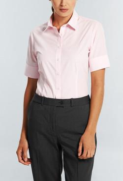 Ladies 1376WS SS Bold Stripe Shirt Pink A