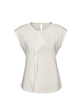Biz K624LS Ladies Mia Pleat Knit Top Ivory