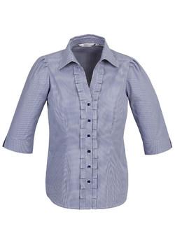 S267LT Ladies 3-4 Sleeve Blue
