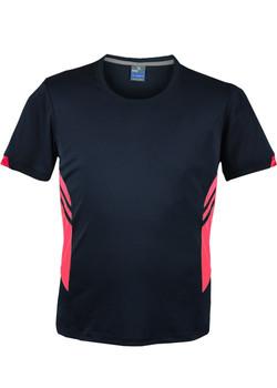 AP 1211 Mens Tasman Tshirt Navy-Fluro Pink