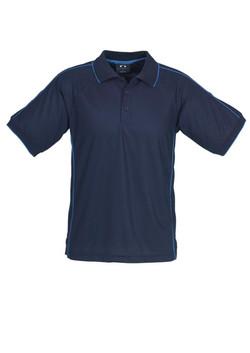 p9900 Mens Resort Polo Navy-Mid Blue