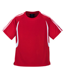 T3110 T3110B Mens and Kids Flash Tee Red_White
