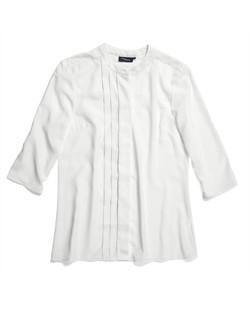 Ladies 1719WL Polyester Georgette Shirt Ivory