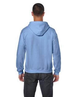 18600 Adult Full Zip Hooded Sweatshirt Back