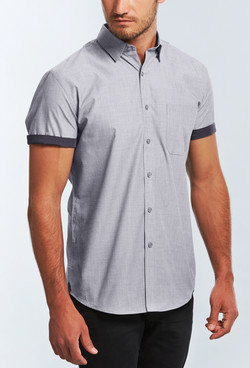 Mens 1253HS SS End on End Hospitality Shirt Silver A