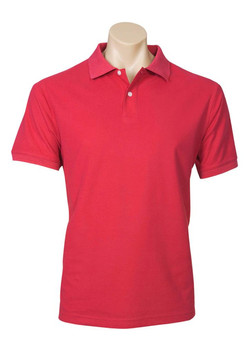 p2100 Mens Neon Polo Red