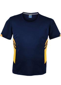 AP 1211 Mens Tasman Tshirt Navy-Gold