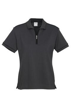 p29322 Ladies Heritage Polo Graphite-Black