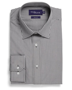 Mens 1376L LS Bold Stripe Shirt Charcoal