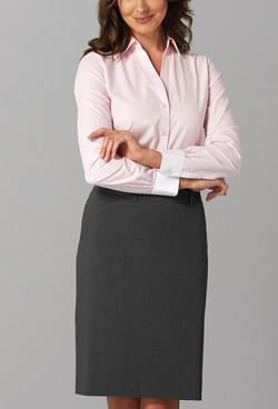Ladies 1376WYL LS Bold Stripe Y Shirt Pink A