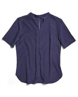 Ladies 1720WS Polyester Georgette Shirt Navy