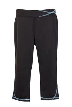 S505LD Ladies Contrast Stitch Legging Black_Aqua.jpg