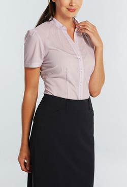 Ladies 1582WS 100% Printed Polyester Shirt Mauve A