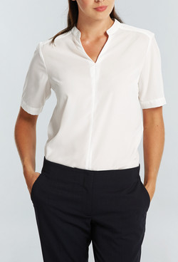 Ladies 1720WS Polyester Georgette Shirt Ivory A