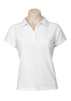 p2125 Ladies Neon Polo White