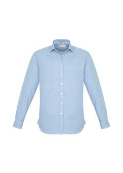 Biz S716ML Mens Ellison Shirts Blue