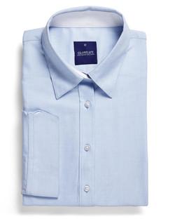 Ladies 1709WL Micro Step Textured Plain Shirt Sky