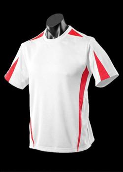 1204 Mens Eureka Tee White-Red