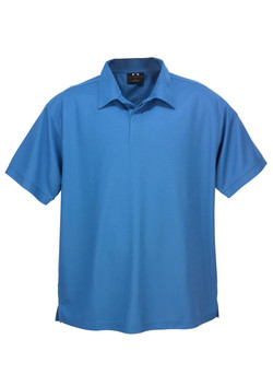 p3300 Mens Micro Waffle Polo Azure Blue
