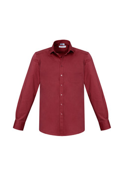 Biz S770ML Mens Monaco LS Shirts Cherry