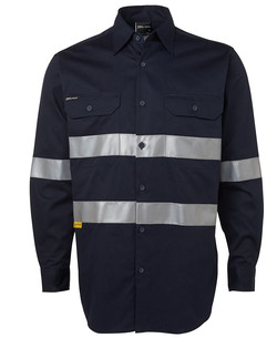 6HDNL LS 190G Shirt With 3M Tape Navy