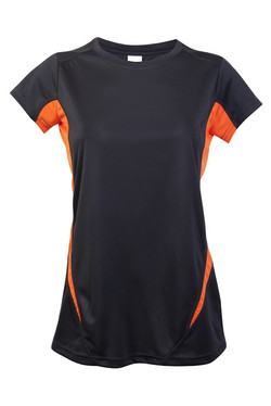 Ramo T447LD Ladies Accelerator Tee Charcoal_Orange