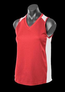 2101 Ladies Premier Singlet Red-White