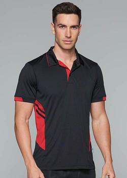 AP 1311 Mens Tasman Polo Black-Red