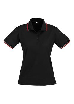 p227ls Ladies Cambridge Polo Black-Red-White