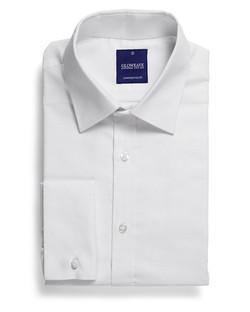 Mens 1716L LS Oxford Weave Shirt White