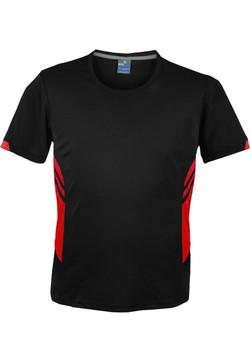 AP 1211 Mens Tasman Tshirt Black-Red