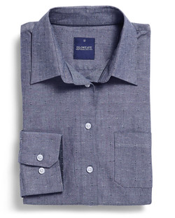 Ladies 1713WHL Spot Dobby Denim Hospitality Shirt Slate