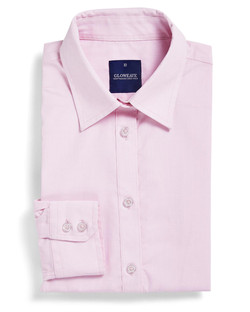 Ladies 1267WL LS Puppy Tooth Check Shirt Pink A