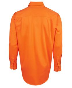 6HVCF Hi Vis LS 190g Close Front Shirt Back