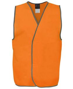 6HVSV Hi Vis Safety Vest Orange